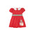 Cindy Lou Sash Dress - Richmond Red with School House Applique
