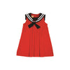 Cindy Sailor Dress - Richmond Red with Nantucket Navy
