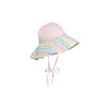 Cissy Sun Hat - Plantation Pink with Old Preston Plaid