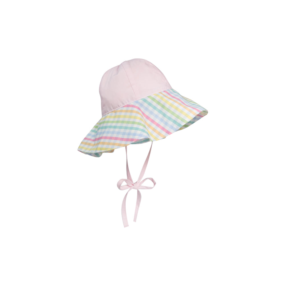 Cissy Sun Hat - Plantation Pink with Old Preston Plaid - The ... 67f14642ea5