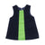 Clementine's Color Block Dress - Nantucket Navy Corduroy with Lexington Lime Corduroy