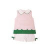 Colleen Color Block Set - Plantation Pink with Kiawah Kelly Green