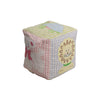 Colorful Cuddle Cube - Lion, Turtle, Mouse, Stork, Lamb, Bluebird