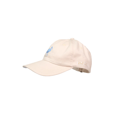 Covington Cap - Keeneland Khaki with Periwinkle Gingham and Stork