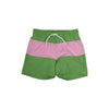 Country Club Colorblock Trunks - Grantham Green with Hamptons Hot Pink