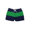 Country Club Color Block Trunks - Nantucket Navy with Kiawah Kelly Green