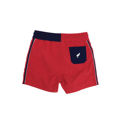 Country Club Colorblock Trunks - Richmond Red with Nantucket Navy