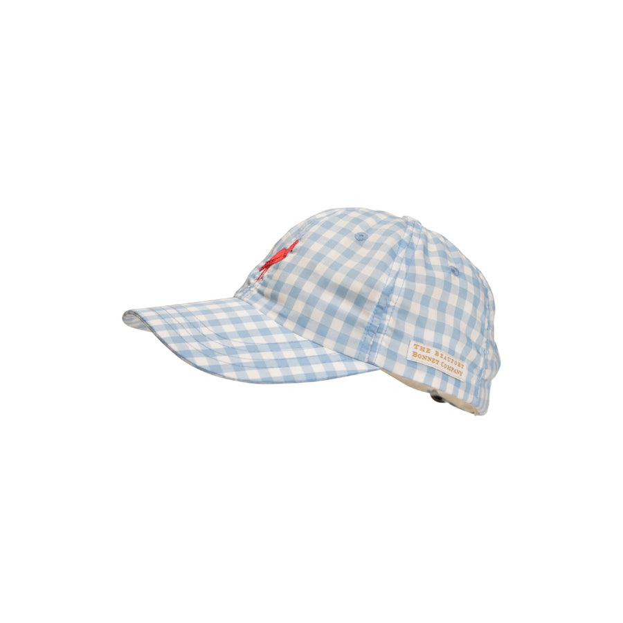 Covington Cap - Blue Grand Gasparilla Gingham with Red Stork
