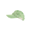Covington Cap - Kiawah Kelly Green Gingham with White Stork
