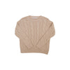 Crawford Crewneck - Keeneland Khaki Cable Knit