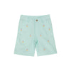 Critter Charlie's Chinos- Sea Island Seafoam with Sailboat Embroidery & Bellport Butter Yellow Stork
