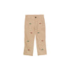 Critter Prep School Pants (Corduroy) - Keeneland Khaki with Woody Embroidery