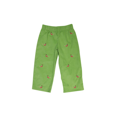 Critter Princeton Pant (Corduroy) - Grenada Green with Pheasant Embroidery