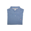 Croquet Party Polo (Men's) - Park City Periwinkle with Hamptons Hot Pink Stork