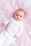 Twinkle Twinkle 2 in 1 Gown - Worth Avenue White with Plantation Pink