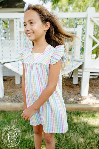 Rosemary Ruffle Dress - Old Preston Plaid with Worth Avenue White
