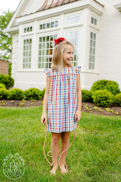 Angel Sleeve McFerran Frock - Pinecrest Plaid