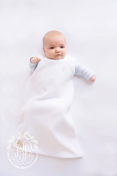 Beddie Bye Snap Sack - Quilted Worth Avenue White with Palmetto Pearl Stork