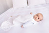 Beddie Bye Snap Sack - Worth Avenue White Matelasse with Palmetto Pearl Stork