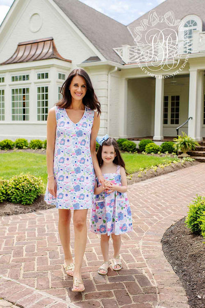 Millie Day Dress - Palm Springs Peony with Palm Beach Pink