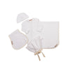 Darling Debut Gift Set (with ties) - Worth Ave. White with Palmetto Pearl