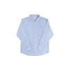 Dean's List Dress Shirt - Barbados Blue Gingham with Barbados Blue Stork