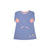 Eleanor's Elbow Patch Dress - Park City Periwinkle with Horse Applique