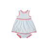 Eliza's Little Set - Buckhead Blue Stripe with Hamptons Hot Pink