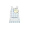 Emerson Art Apron - Buckhead Blue Chattanooga Check with Sun & Cloud Applique