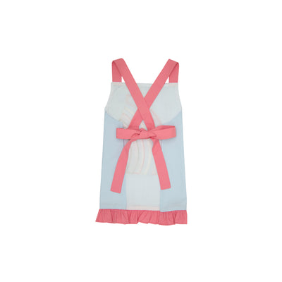 Emerson Art Apron - Buckhead Blue with Hamptons Hot Pink and Rainbow Applique