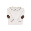 Emma's Elbow Patch Top - Worth Avenue White with Aiken Place Plaid Elbow Patches