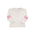Emma's Elbow Patch Top - White with Park City Periwinkle Trim and Hamptons Hot Pink Bows