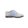 Footmates Saddle Shoe - White with Light Blue