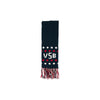 Frances Fringe Scarf - Nantucket Navy with Richmond Red and Worth Avenue White