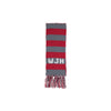 Frances Fringe Scarf - Greenwich Gray with Richmond Red and Worth Ave. White