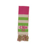 Frances Fringe Scarf - Lexington Lime with Palmetto Pearl and Hamptons Hot Pink