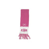 Frances Fringe Scarf - Hamptons Hot Pink with Worth Ave. White Bow