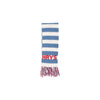 Frances Fringe Scarf - Worth Avenue White with Park City Periwinkle Stripe