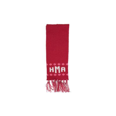 Frances Fringe Scarf - Richmond Red with Winter Park Pink and Palmetto Pearl