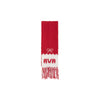 Frances Fringe Scarf - Richmond Red with Worth Ave. White Bows