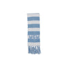 Frances Fringe Scarf - Worth Avenue White with Buckhead Blue