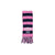 Frances Fringe Scarf - Hot Pink and Navy with White