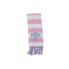 Frances Fringe Scarf - White, Plantation Pink, and Buckhead Blue