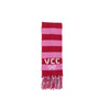 Frances Fringe Scarf - Richmond Red and Hamptons Hot Pink with White