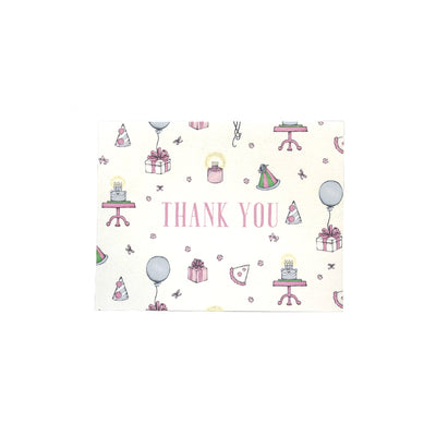 Thank You Cards - Party Like It's Your Birthday with Pink