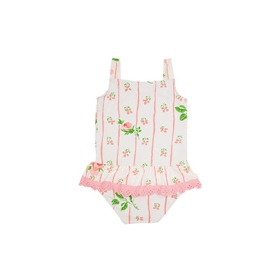 Grace Bay Bathing Suit - Ridgewood Rows with Sandpearl Pink