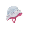 Hartley Hat - Buckhead Blue with White Eyelet and Hamptons Hot Pink