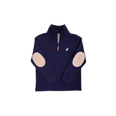 Hayword Half-Zip - Nantucket Navy with Keeneland Khaki & Multicolor Stork