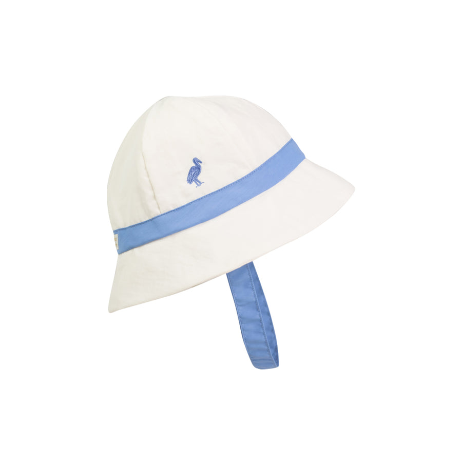 Henry's Boating Bucket - Worth Avenue White with Barbados Blue