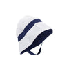 Henry's Boating Bucket - Worth Ave. White with Nantucket Navy